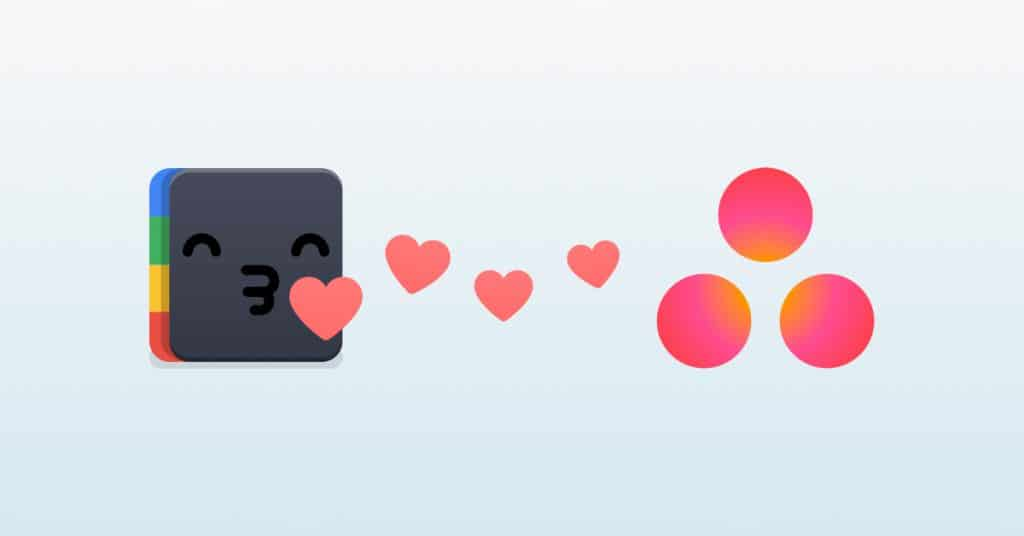 The Shift-moji spreading some love towards Asana.