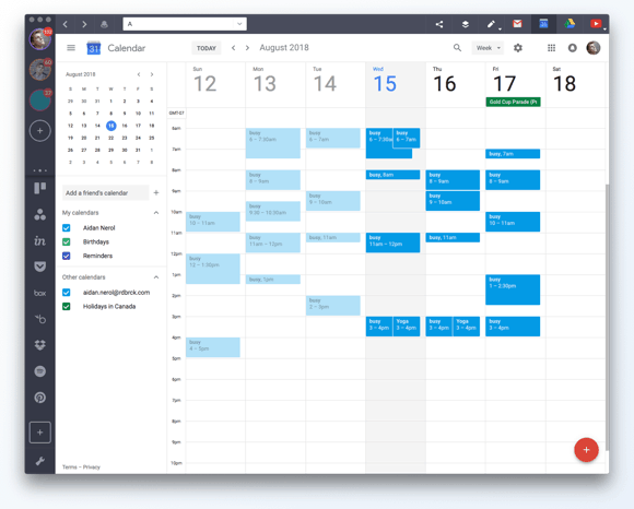 How to sync multiple Gmail Calendars in one.