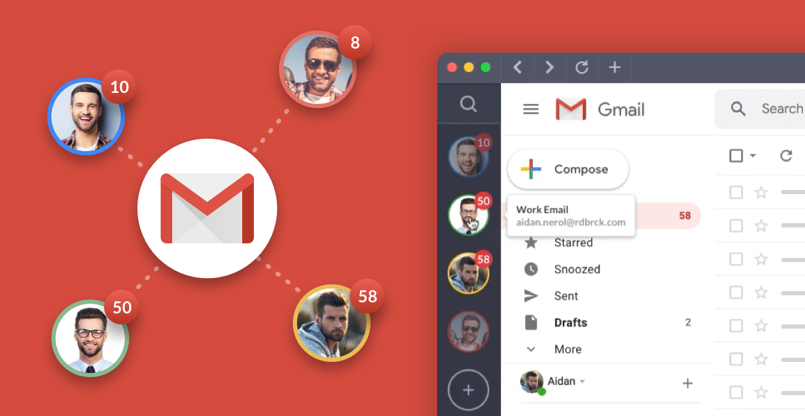 manage multiple gmail accounts