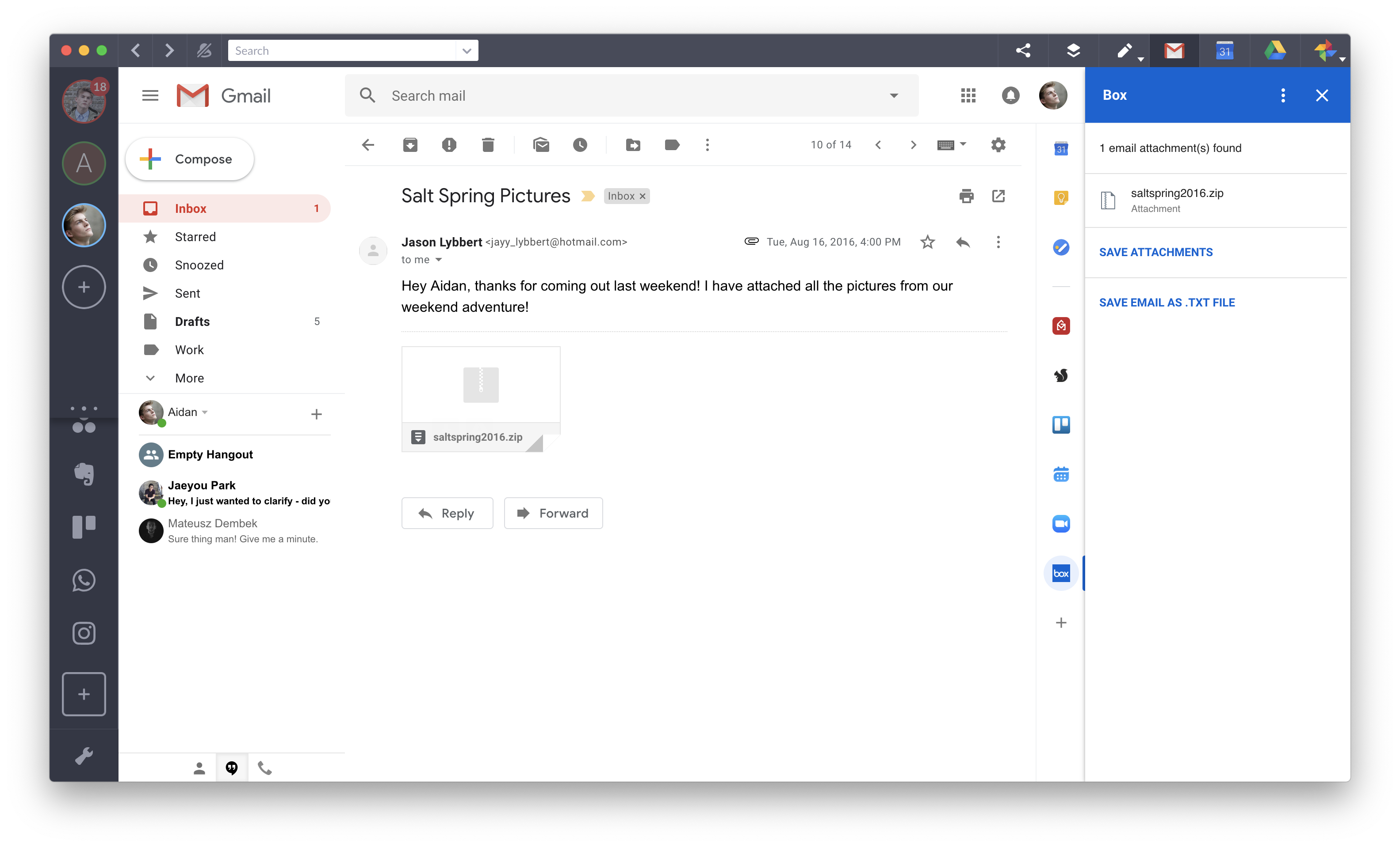box gmail add on
