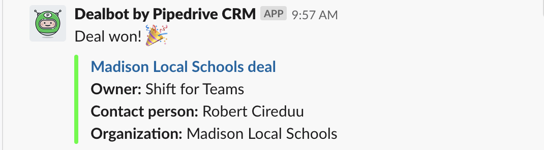 Slack Tips #1: get CRM updates.