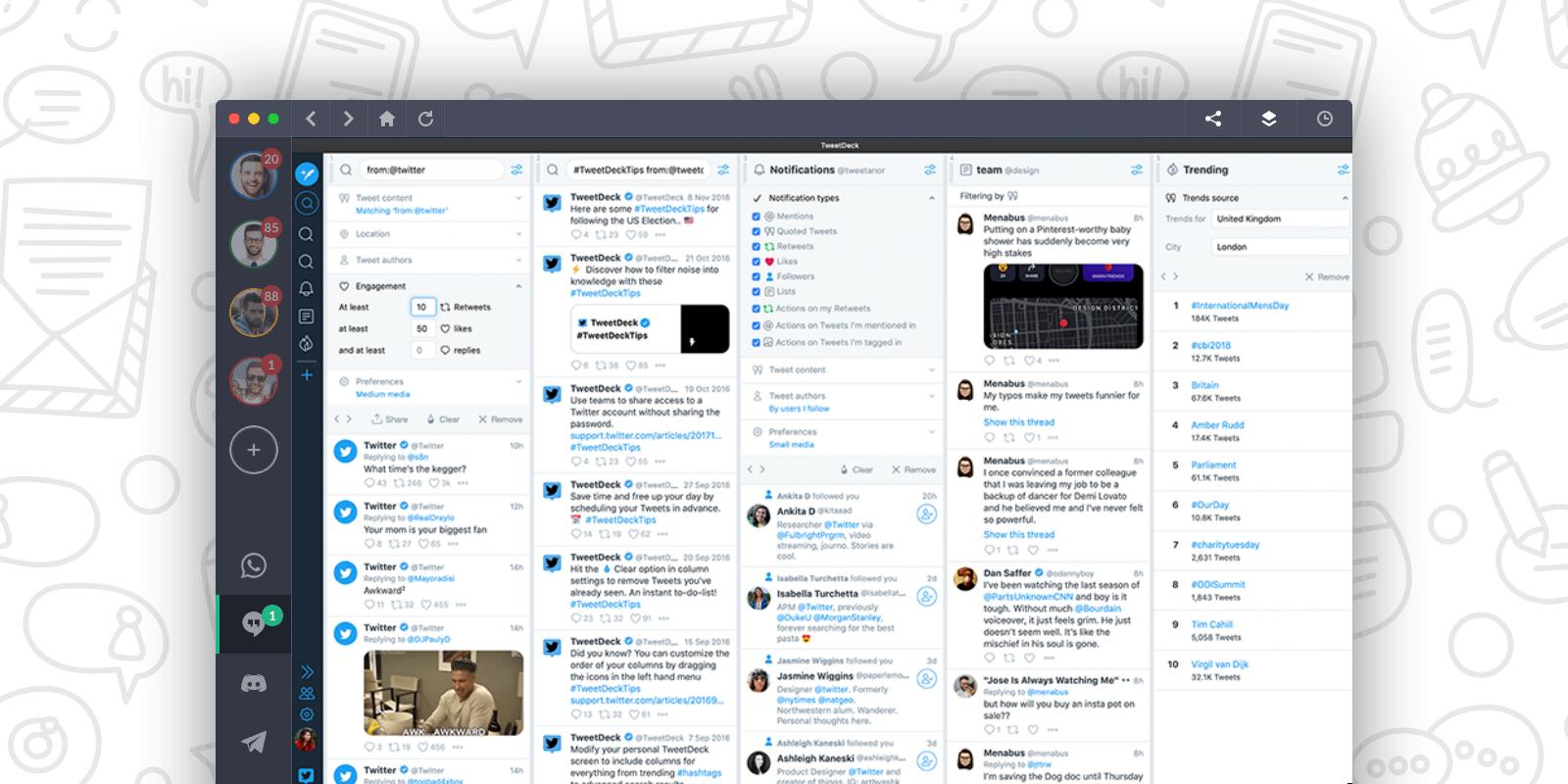 TweetDeck Screenshot