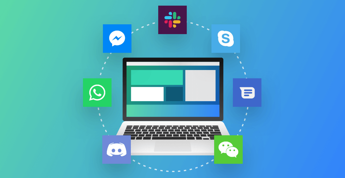 messaging apps in one place