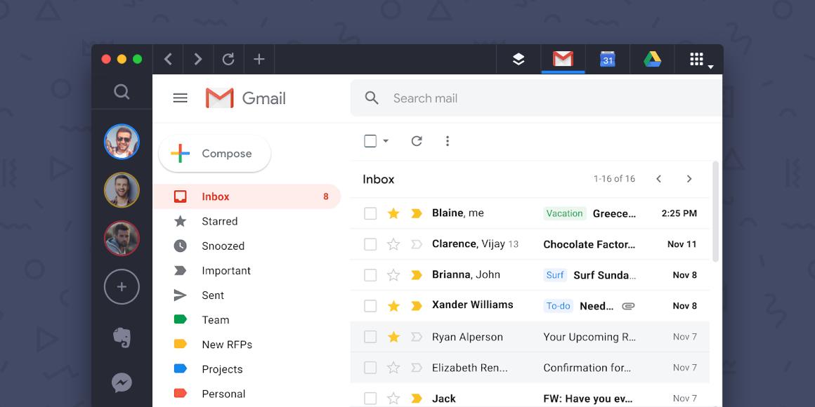 gmail ui