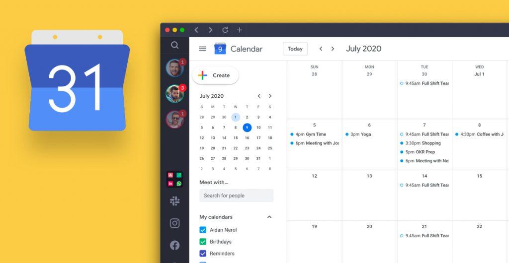 multiple google calendars
